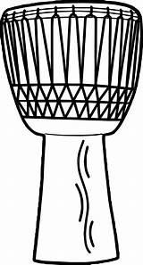 Coloring Drums Popular Drum African sketch template