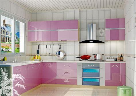 white kitchen  pink purple appliances amazing architecture magazine