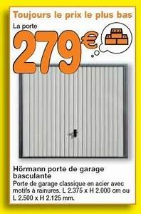 Prix Porte De Garage Basculante : brico plan it promotion porte de garage basculante ~ Edinachiropracticcenter.com Idées de Décoration