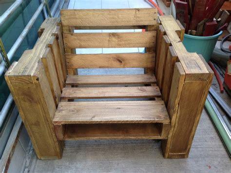 chaise en palette pallet chair