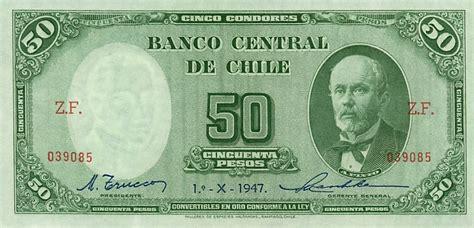 Banknote Index Chile 50 Peso P104