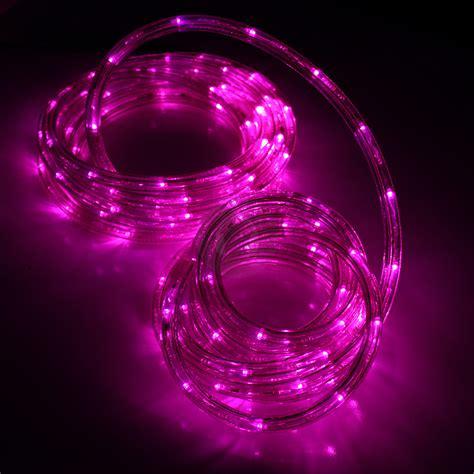 8m led pink purple rope light flashing multi function