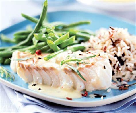 recette de cuisine avec du poisson recette facile du cabillaud au riz sauvage et haricots verts