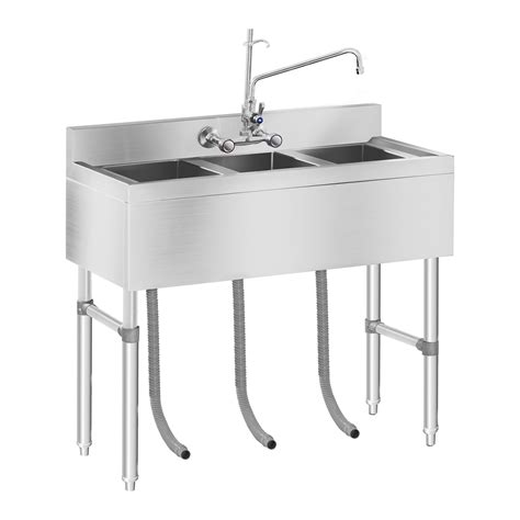 Commercial Kitchen Sink Three Basin Catering Sink