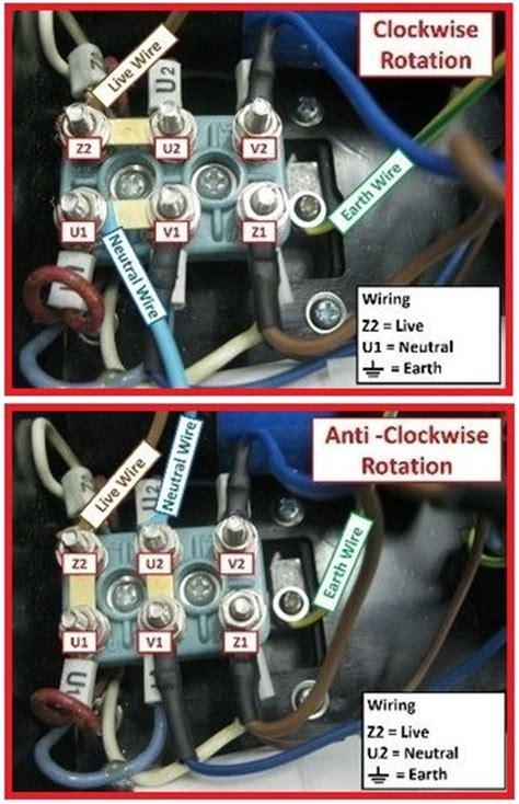 Single Phase Motor Rotation Clockwise Anti