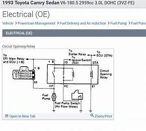 Wiring Schematic For Fuel Pump  Have A 1993 Toyota Camry