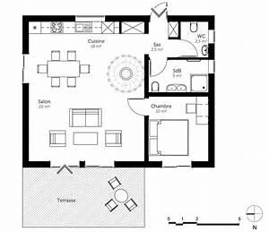 plan maison 70 m2 avec mezzanine ooreka With plan maison avec mezzanine