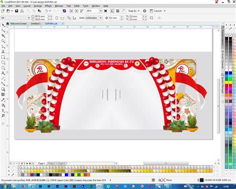 vector design gapura  agustus anakdesocom