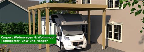 Wohnwagen Selbst Bauen by Carport F 252 R Wohnwagen Und Wohnmobil Caravan Carport