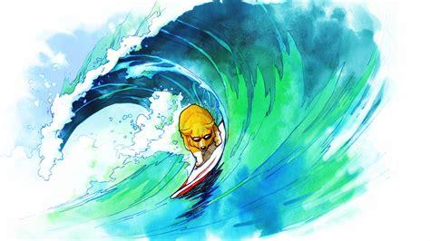 dog surfing drawing wallpapers hd desktop  mobile