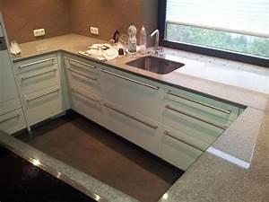 Küche Mit Granitarbeitsplatte : alno k che weiss mit granitarbeitsplatte neff einbauger te induktion in lichtenfels ~ Sanjose-hotels-ca.com Haus und Dekorationen
