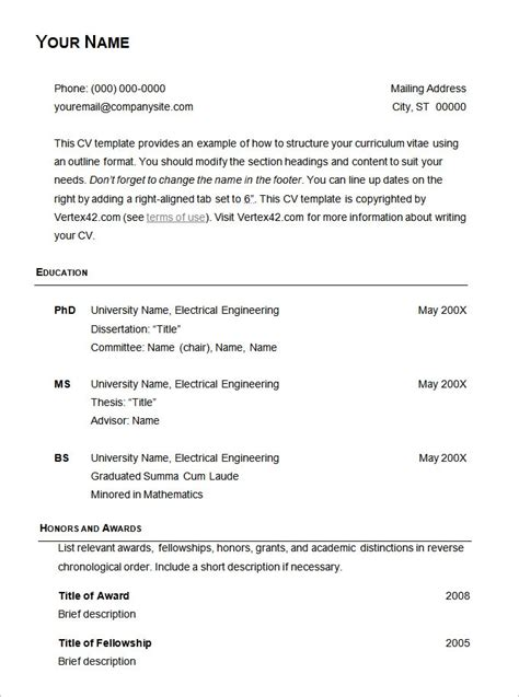 Basic Resume Templates by Free Basic Resume Templates Health Symptoms And