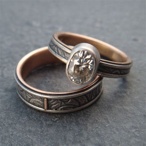 my usual sunflower wedding band engagement ring set but