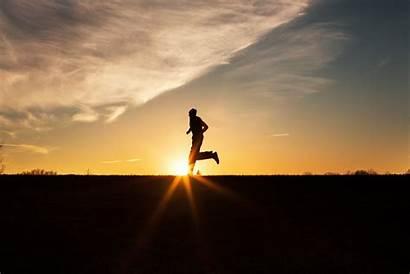 Silhouette Running Sunset Runner Training Race Half