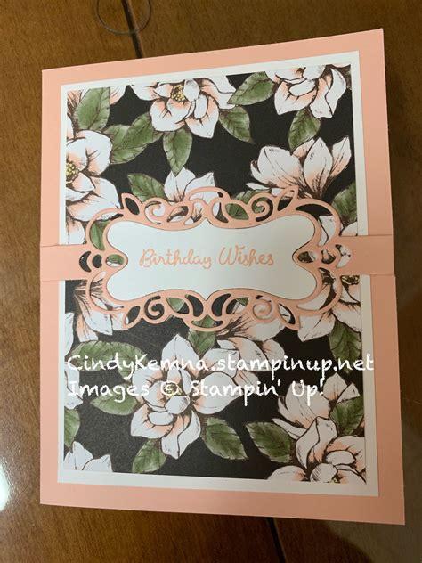 stampin  detailed bands dies magnolia lane dsp