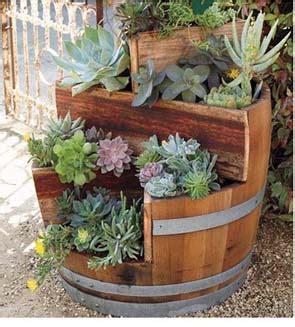 multi tiers barrel planter