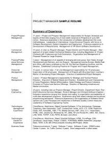 Resume Overview by Write A Resume Summary Paragraph Resume Summary Summary