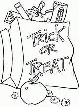 Coloring Halloween Trick Treat Permen Gambar Mewarnai Candy Printable Drawings Cane Colouring Heart Kartun Apple Disegni Cicak Koleksi Terkini Lolipop sketch template