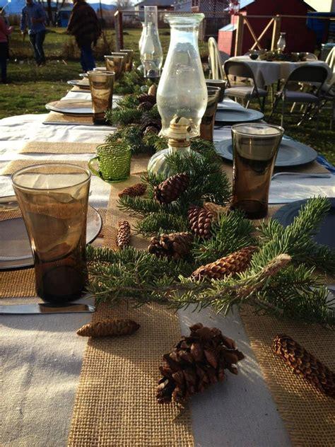 beautiful outdoor christmas table settings digsdigs