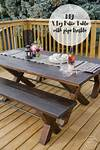 DIY X Leg Patio Table with Pipe Trestle - Lemon Thistle diy outdoor patio table