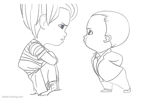 Boss Baby Coloring Pages Kids Are Angry
