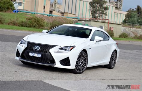 lexus white 2015 lexus rc f review video performancedrive