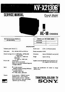 Sony Kv-x2130b Service Manual