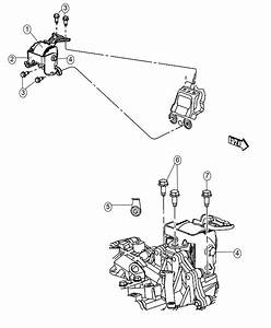 2017 Jeep Compass Bracket  Transmission Mount   5
