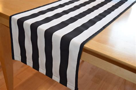 black and white table runners black white stripe table runner canopy by beeyourselfdesigns