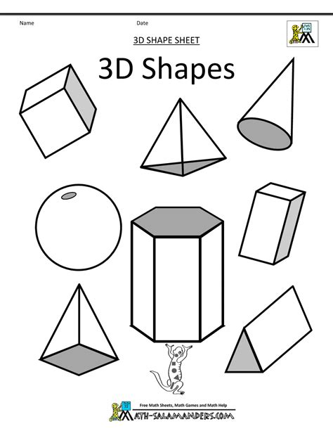 how to draw 3d simple geometric shapes drawing and
