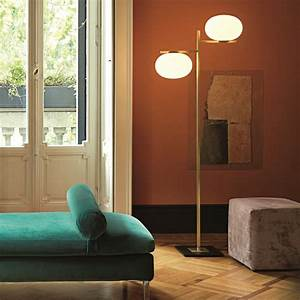 Alba Twin Floor Lamp By Oluce  U2014
