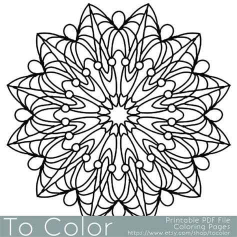 simple printable coloring pages  adults gel pens