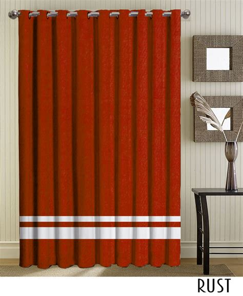 make your own striped grommet curtains