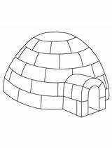Igloo Coloring Preschool Craft Winter Printable Pages Yahoo Crafts Jumbo Penguin Template Colouring Letter Built Info Sheet Templates Gemerkt Von sketch template