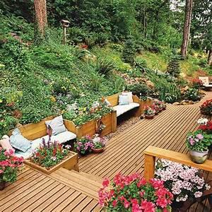 22 idees creatives pour fabriquer un banc de jardin en bois With katzennetz balkon mit garden bench seat