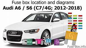Fuse Box Location And Diagrams  Audi A6    S6  C7  4g  2012