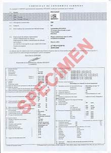 Certificat De Cession Prefecture Courrier : certificat de conformit peugeot coc peugeot france ~ Medecine-chirurgie-esthetiques.com Avis de Voitures