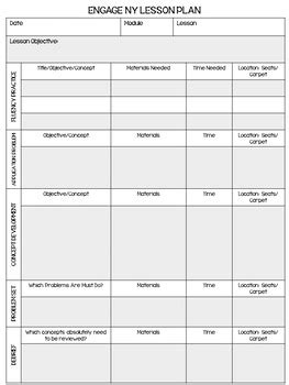 engage ny math lesson plan template editable by teach
