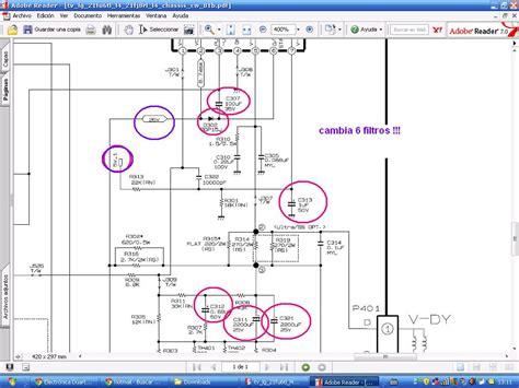 solucionado lg 21fu6tl l4 falla vertical yoreparo