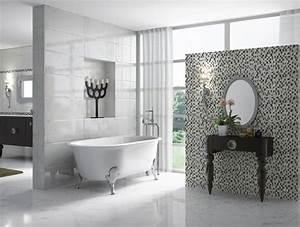 le carrelage dans la salle de bains inspiration bain With carreaux mosaique salle de bain