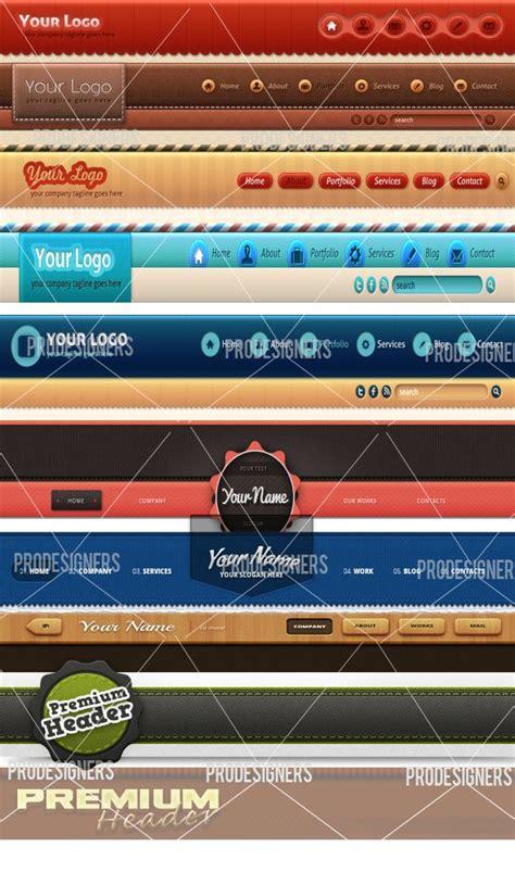 professional website header   website