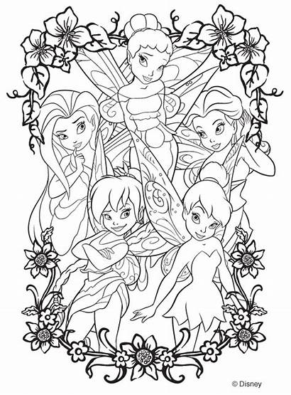 Tinkerbell Coloring Pages Fairy Bell Tinker Colouring