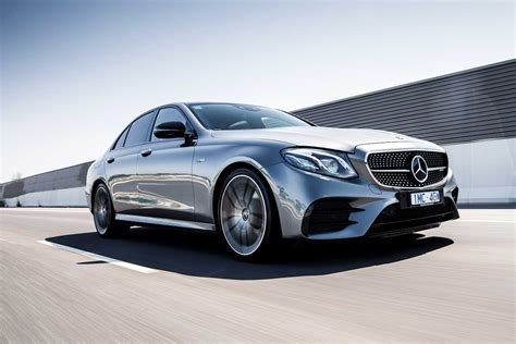 It wears a brilliant shade of iridium silver that nearly matches the color of the porous clouds on this rainy northern california day. 2019 Mercedes-AMG E53 sedan review | MOTOR
