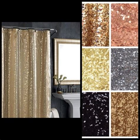 Sequin Fabric Shower Curtain Various Sequin By