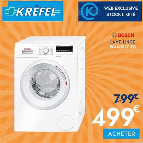 promotion krefel lave linge 233 conomique 224 quasi moiti 233 prix le bonplan be code promo