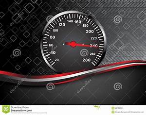 Vector Car Speedometer. Abstract Background Royalty Free ...