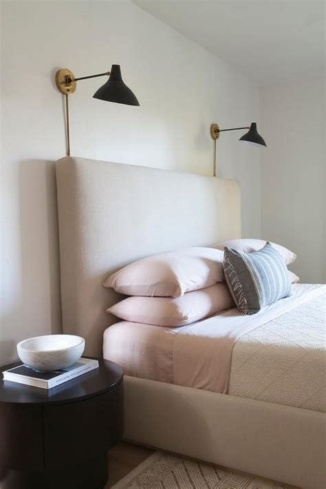 Bedside Sconces by Beige And Pink Bedroom Design Modern Bedroom