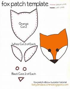 free fox patch template crafts pinterest With template of a fox