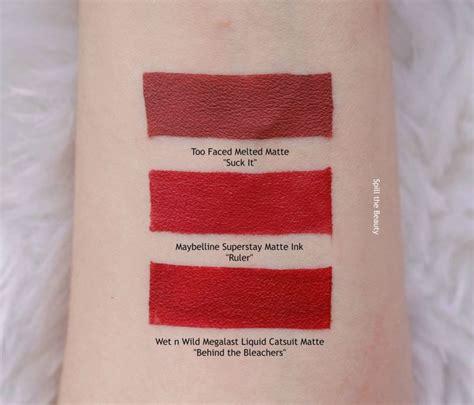 maybelline matte lipstick lip swatch saturday maybelline matte ink quot ruler quot