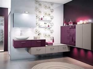 deco salle de bain violet deco sphair With charming salon de jardin pour terrasse 3 decoration appartement jeune couple